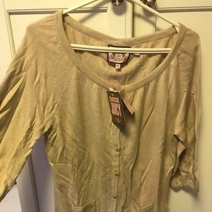 Juicy Couture Camel cardigan with bow detailing